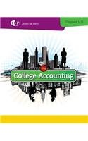 College Accounting: Chapters 1-15 4th 2013 edition cover
