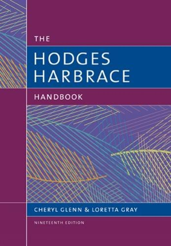 The Hodges Harbrace Handbook:   2016 9781305676442 Front Cover