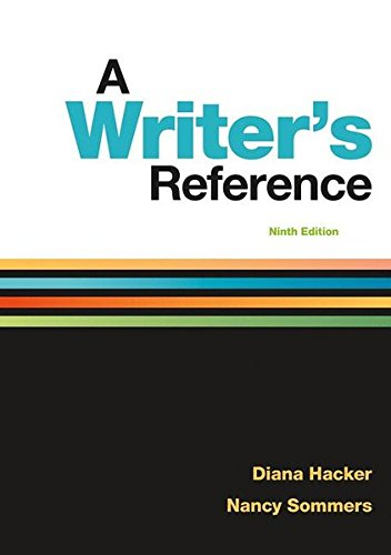 Writers Reference 9e  9th 9781319057442 Front Cover