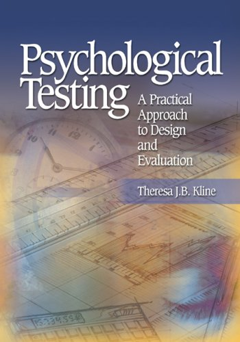 Psychological Testing A Practical Approach to Design and Evaluation  2005 edition cover