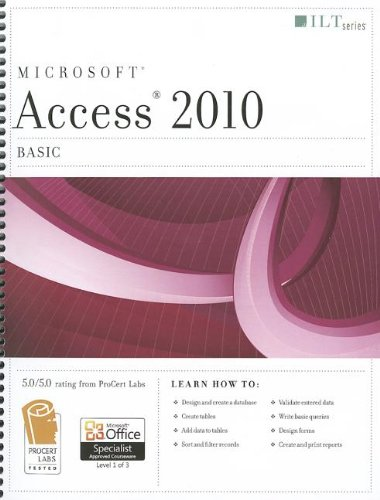 Access 2010 Basic Student Manual, Study Guide, etc. 9781426021442 Front Cover