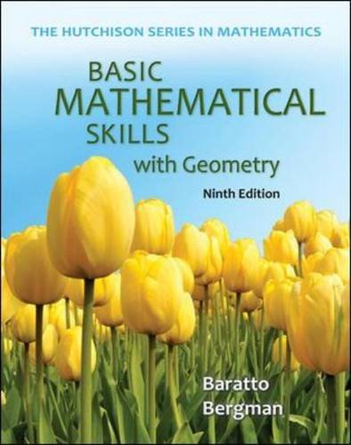 Basic Mathematical Skills with Geometry  9th 2014 edition cover