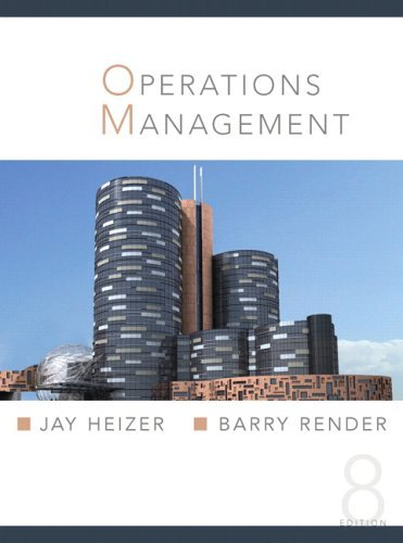 Operations Management  8th 2006 (Student Manual, Study Guide, etc.) edition cover