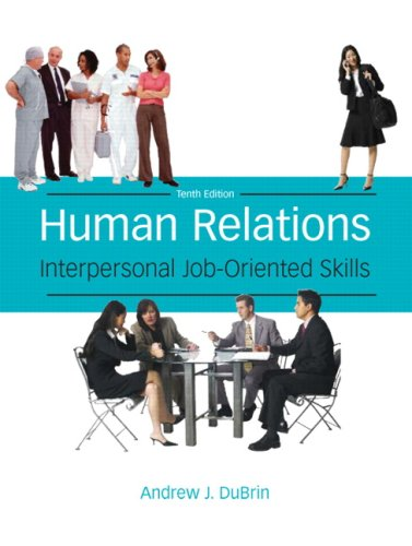 Human Relations Interpersonal Job-Oriented Skills 10th 2009 edition cover