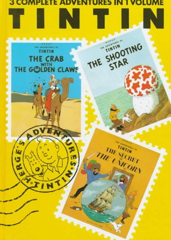Adventures of Tintin The Crab with the Golden Claws - The Shooting Star - The Secret of the Unicorn N/A edition cover