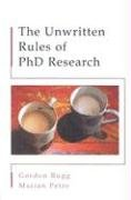 Unwritten Rules of PhD Research   2004 edition cover