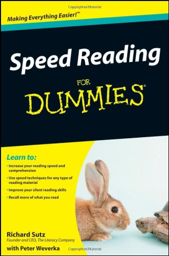 Speed Reading for Dummies   2009 edition cover