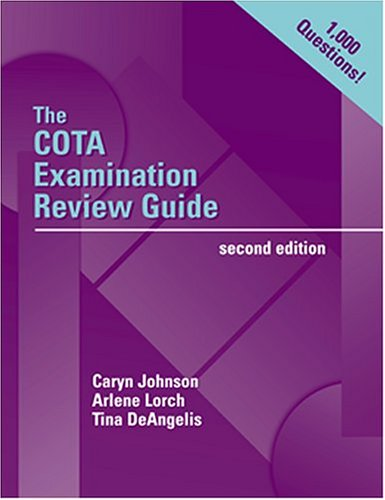 COTA Examination Review Guide  2nd 2002 (Revised) 9780803608443 Front Cover