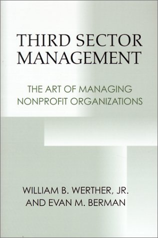 Third Sector Management The Art of Managing Nonprofit Organizations  2001 edition cover