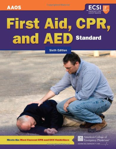 First Aid, CPR, and AED  6th 2012 edition cover