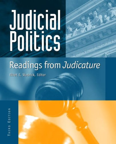 Judicial Politics Readings from Judicature 2nd 2005 (Revised) edition cover