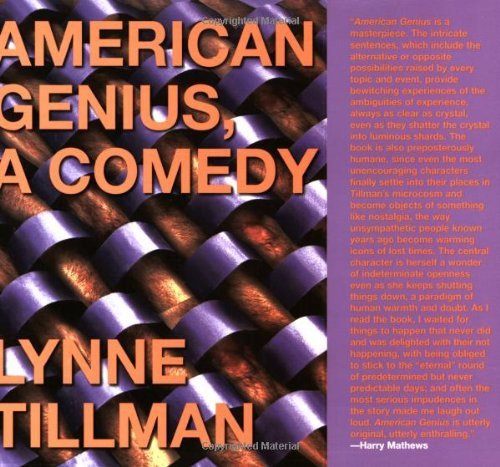 American Genius A Comedy  2006 9781933368443 Front Cover