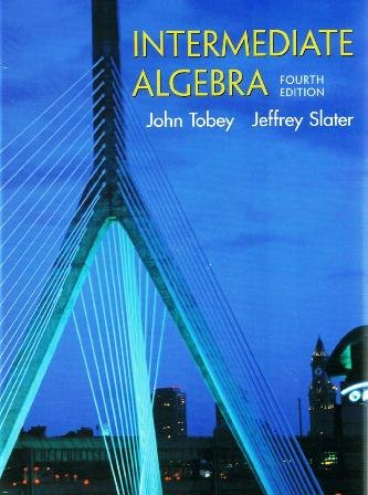 Intermediate Algebra  4th 2002 9780130608444 Front Cover