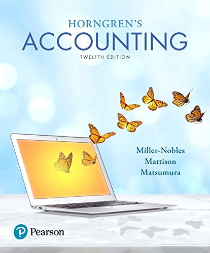 Horngren's Accounting:   2017 9780134486444 Front Cover