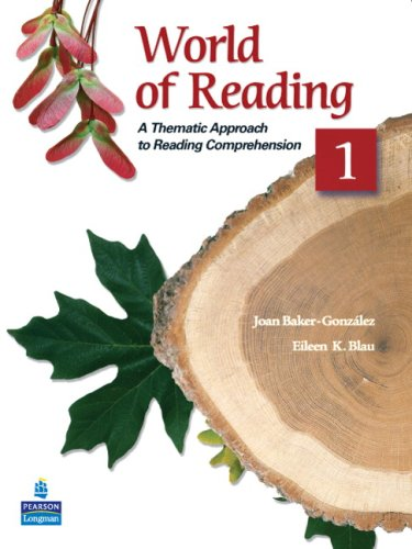 World of Reading 1 A Thematic Approach to Reading Comprehension 2nd 2009 edition cover