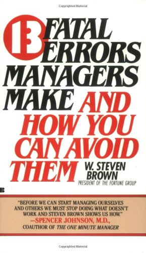 13 Fatal Errors Managers Make And How You Can Avoid Them  1985 edition cover