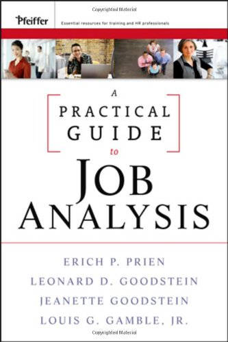 Practical Guide to Job Analysis   2009 (Guide (Instructor's)) 9780470434444 Front Cover