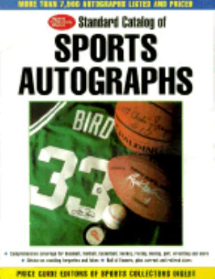 Standard Catalog of Sports Autographs  2000 9780873419444 Front Cover
