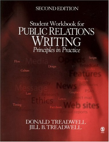 Public Relations Writing Student Workbook Principles in Practice 2nd 2005 (Revised) edition cover
