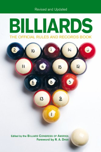 Billiards The Official Rules and Records Book  2005 (Revised) edition cover