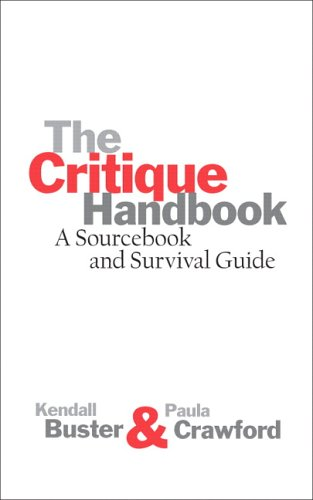Critique Handbook A Sourcebook and Survival Guide  2007 edition cover