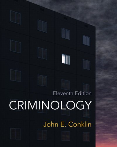 Criminology  11th 2013 (Revised) edition cover