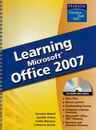 Learning Microsoft Office 2007   2008 (Student Manual, Study Guide, etc.) edition cover