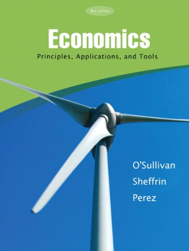 Economics Principles, Applications and Tools 6th 2010 edition cover