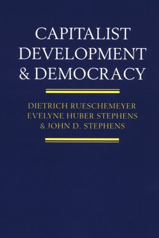 Capitalist Development and Democracy  Reprint edition cover