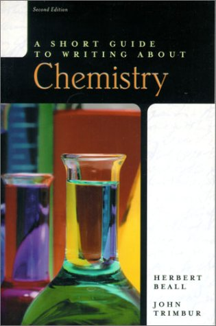 Short Guide to Writing about Chemistry  2nd 2001 edition cover
