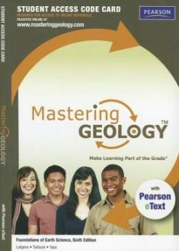 MasteringGeology with Pearson Etext - Valuepack Access Card - For Foundations of Earth Science  2014 edition cover