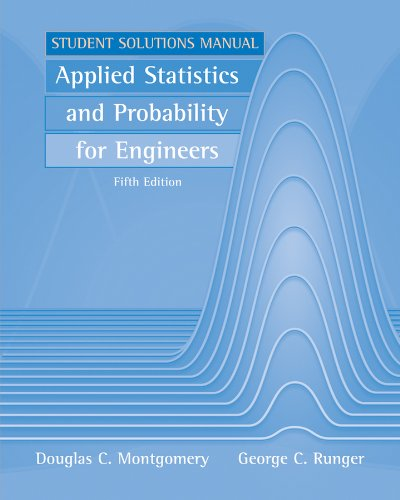 Applied Statistics and Probability for Engineers  5th 2011 edition cover