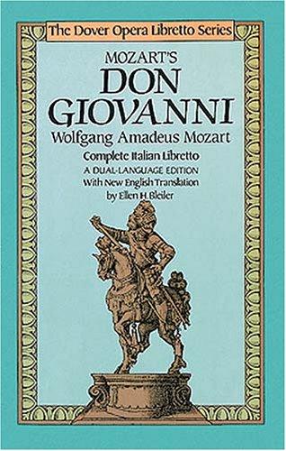 Mozart's Don Giovanni Complete Italian Libretto  1985 edition cover