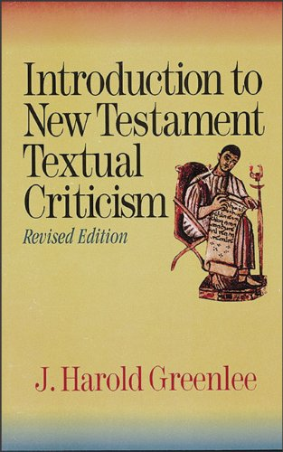Introduction to New Testament Textual Criticism  Revised  edition cover