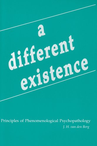 Different Existence Principles of Phenomenological Psychopathology N/A edition cover