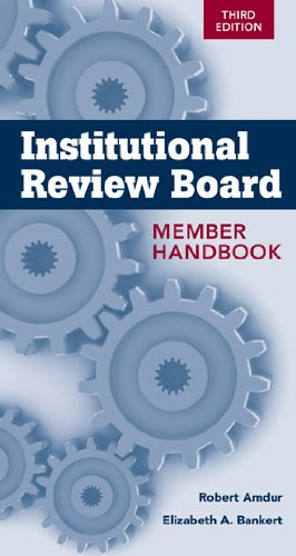 Institutional Review Board Member Handbook  3rd 2011 edition cover