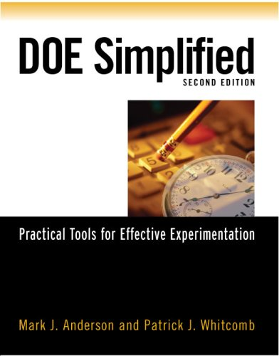 DOE Simplified Practical Tools for Effective Experimentation 2nd 2007 (Revised) edition cover