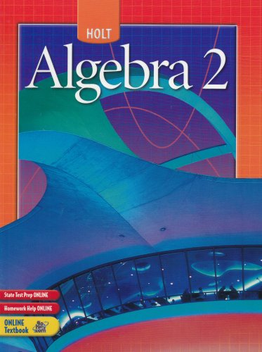 Algebra 2  Student Manual, Study Guide, etc.  9780030700446 Front Cover