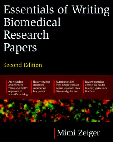 Essentials of Writing Biomedical Research Papers  2nd 2000 (Revised) edition cover
