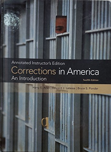 Corrections in America An Introduction: Annotated Instructor's Edition 12th 2010 edition cover