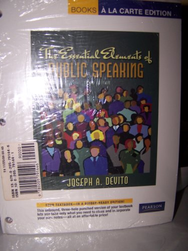 Essential Elements of Public Speaking  3rd 2009 9780205791446 Front Cover