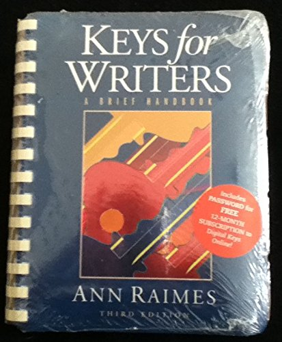 Keys for Writers : With Smarthinking 3rd 2002 9780618171446 Front Cover