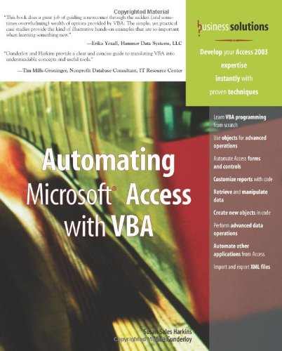 Automating Microsoft Access with VBA   2005 9780789732446 Front Cover