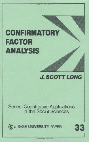 Confirmatory Factor Analysis A Preface to LISREL  1983 edition cover