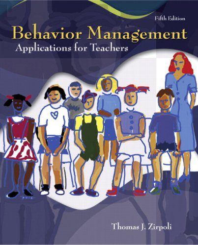 Behavior Management Applications for Teachers 5th 2008 edition cover