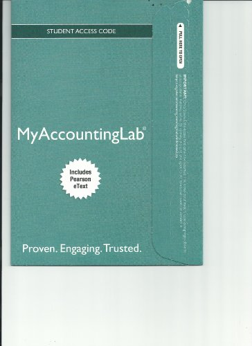 NEW MyAccountingLab with Pearson EText -- Standalone Access Card -- for Horngren's Accounting  10th 2014 edition cover