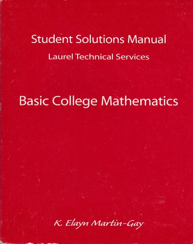 Basic College Mathematics:  1st 1998 9780137525447 Front Cover