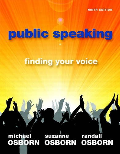 Public Speaking Finding Your Voice 9th 2012 (Revised) edition cover