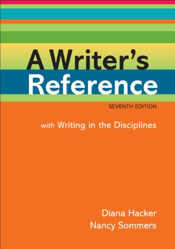 Writer's Reference with Writing in the Disciplines  7th 2010 edition cover