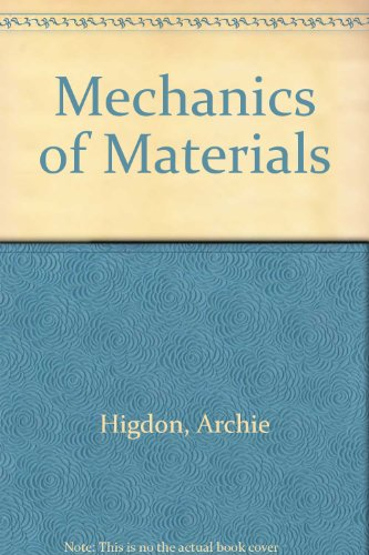 Mechanics of Materials  4th 1985 9780471890447 Front Cover